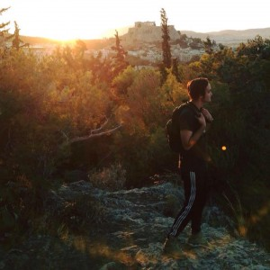photo of gabriel hiking in athens